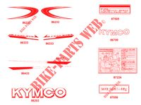 STICKERS for Kymco PULSAR 125 II 4T EURO III