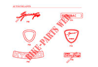 STICKERS SPACER 125 12 4T  125 SPACER 125 12 4T