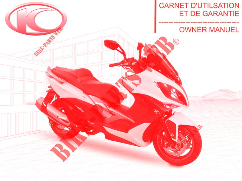 OWNER'S MANUAL for Kymco XCITING 400I 4T EURO III