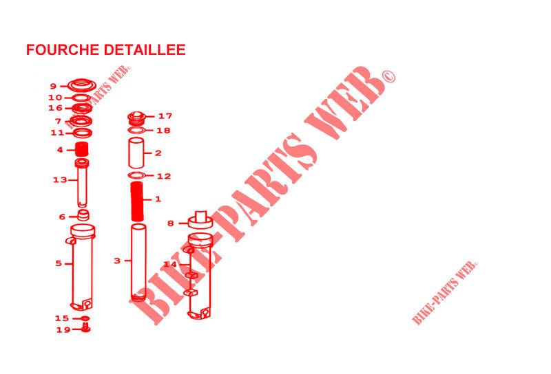 New Genuine Kymco Xciting 500 FORK PIPE COMP 51410-LBA2-E00