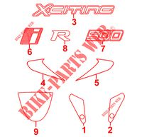 STICKERS for Kymco XCITING 500 RI 4T EURO III