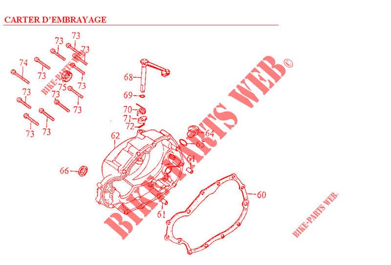 Kymco moto 125 ZING ZING 125 4T ZING 125 4T ZING 125 4T CASINGS