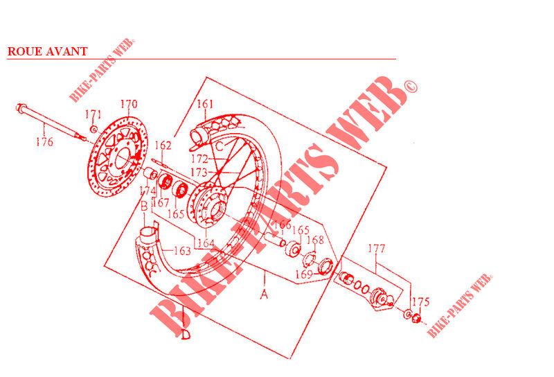 Kymco moto 125 ZING ZING 125 4T ZING 125 4T ZING 125 4T FRONT WHEEL