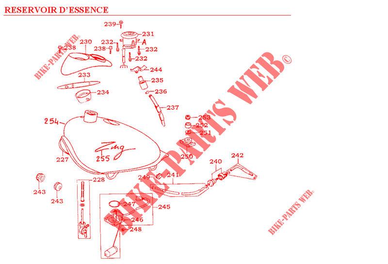 Kymco moto 125 ZING ZING 125 4T ZING 125 4T ZING 125 4T FUEL TANK