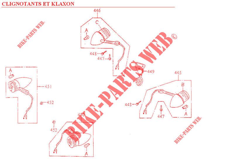 Kymco moto 125 ZING ZING 125 4T ZING 125 4T ZING 125 4T INDICATORS / HORN