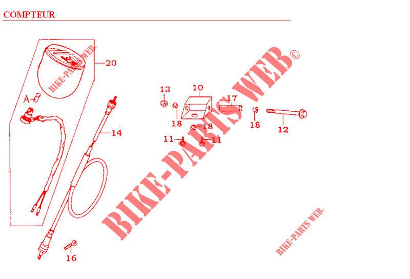 Kymco moto 125 ZING ZING 125 4T ZING 125 4T ZING 125 4T SPEEDOMETER