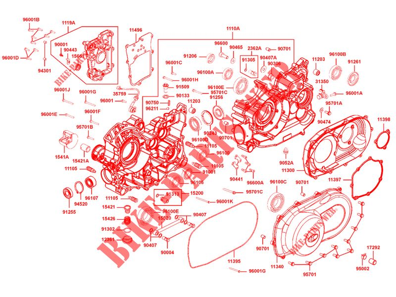 ENGINE CASINGS for Kymco MXU 700I EX IRS 4T EURO II