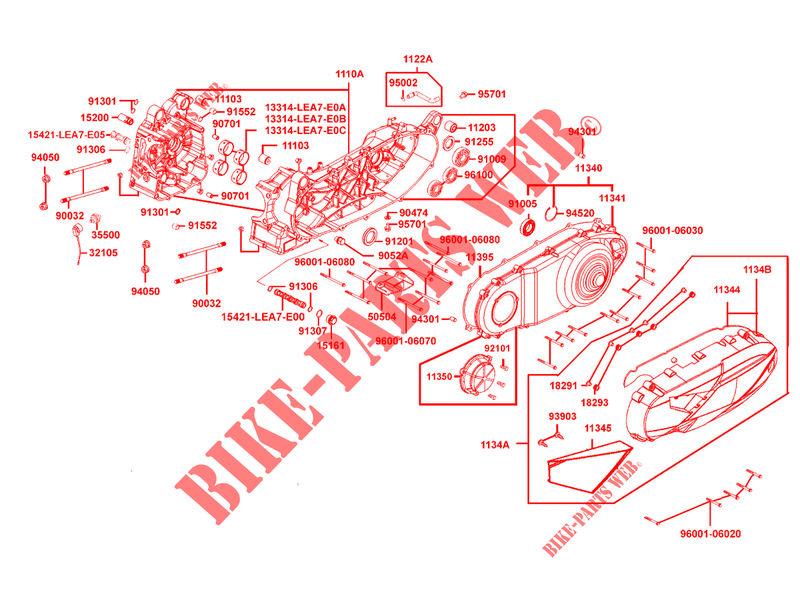 engine casings for kymco downtown 350 i abs exclusive euro iii Kymco Maxxer 450I Engine Diagram