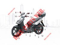 MAINTENANCE PARTS for Kymco AGILITY CITY 50 2 T EURO II