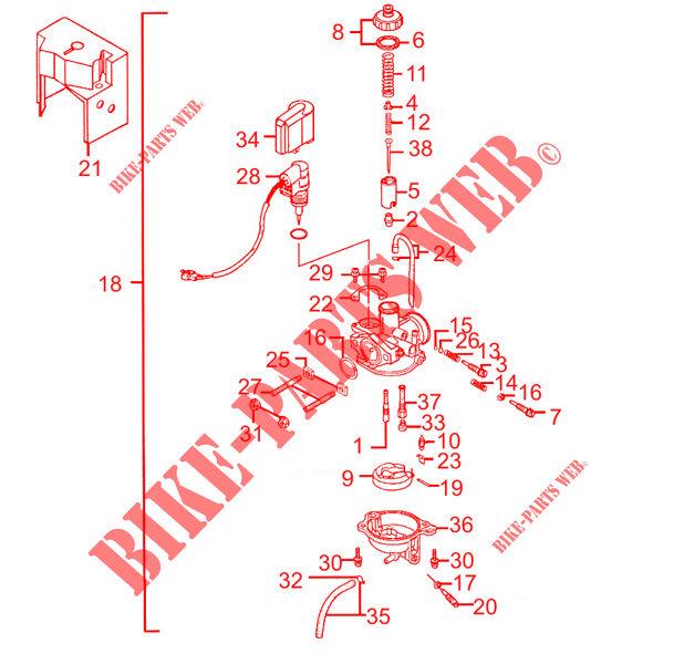 CARBURETOR for Kymco AGILITY CITY 50 2 T EURO II # KYMCO