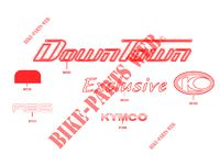 STICKERS for Kymco DOWNTOWN125 I ABS EXCLUSIVE EURO 4