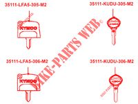 MASTER KEY for Kymco MXU 700I IRS 4T EURO 4