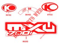 STICKERS for Kymco MXU 700I IRS 4T EURO 4
