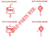 MASTER KEY for Kymco MXU 700I EX EPS IRS 4T EURO 4
