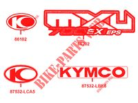 STICKERS for Kymco MXU 700I EX EPS IRS 4T EURO 4