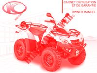 OWNER'S MANUAL for Kymco MXU 465 IRS 4T EURO 4