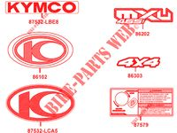 STICKERS for Kymco MXU 465 IRS 4T EURO 4