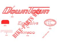 STICKERS for Kymco DOWNTOWN 125 I ABS EXCLUSIVE EURO 3