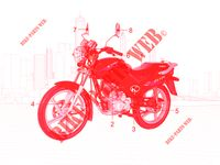 MAINTENANCE PARTS for Kymco CK PULSAR 125 4T EURO II