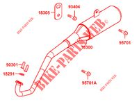 EXHAUST for Kymco MAXXER 50 S 2T N.H