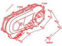 TRANSMISSION CASING for Kymco MAXXER 50 S 2T N.H