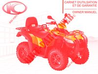 OWNER'S MANUAL for Kymco MXU 500I DX IRS 4T EURO 2
