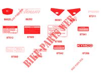 STICKERS for Kymco XTOWN 300I ABS EURO 4