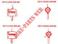 MASTER KEY for Kymco MXU 700I EX EPS IRS 4T T3B