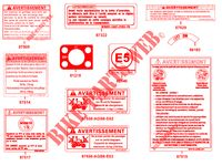 WARNING LABELS for Kymco MXU 700I EX EPS IRS 4T T3B