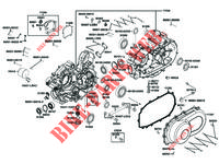 ENGINE CASINGS for Kymco MXU 550i IRS 4T T3B