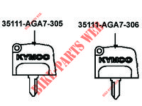 MASTER KEY for Kymco MXU 550i IRS 4T T3B