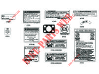 WARNING LABELS for Kymco MXU 550i IRS 4T T3B