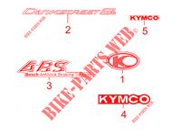 STICKERS LIMITED EDITION for Kymco DINK STREET 300 I ABS EURO III -avec warning-