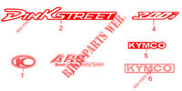 STICKERS for Kymco DINK STREET 300 I ABS EURO III -avec warning-