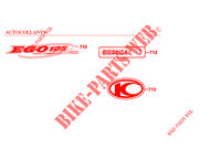 STICKERS for Kymco EGO 125 4T EURO I