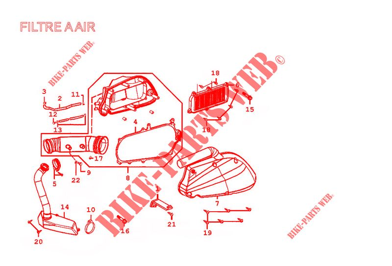 Kymco scooter 125 DINK GRAND DINK 125 4T EURO II  GRAND DINK 125 4T EURO II GRAND DINK 125 4T EURO II AIR FILTER