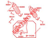 REAR SHOCK ABSORBER for Kymco GRAND DINK 125 MMC 4T EURO III