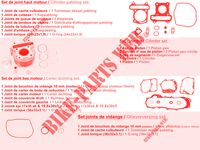 SET OF GENUINE PARTS AGILITY 50 12 4T EURO II 50 kymco-motorcycle AGILITY AGILITY 50 12 4T EURO II 2