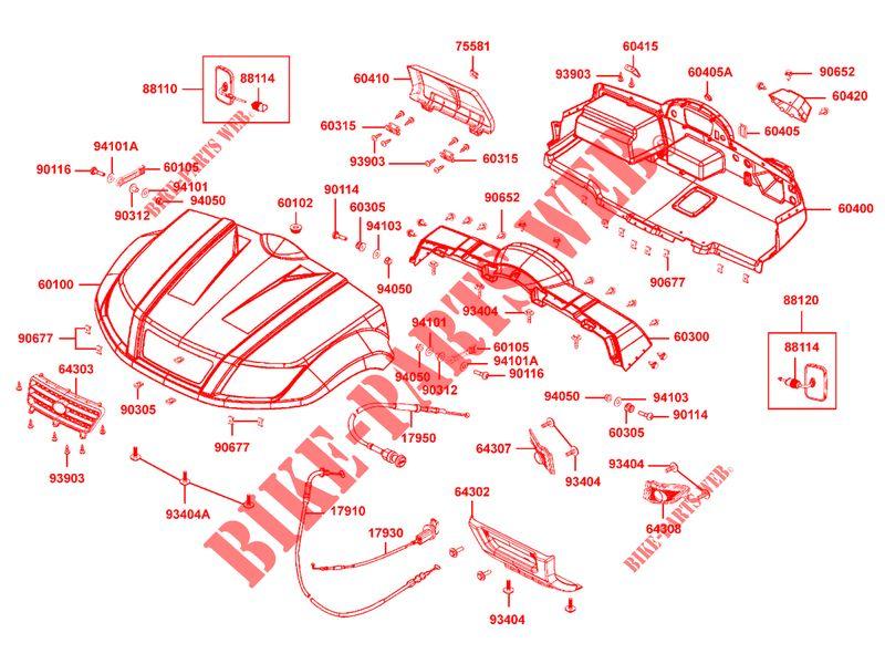 BONNET / DASHBOARD for Kymco KYMCO UXV 500 4T EURO II