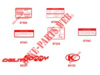STICKERS for Kymco AGILITY 50 CARRY 4T EURO II