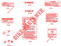 WARNING LABELS for Kymco MAXXER 300 US 4T EURO II