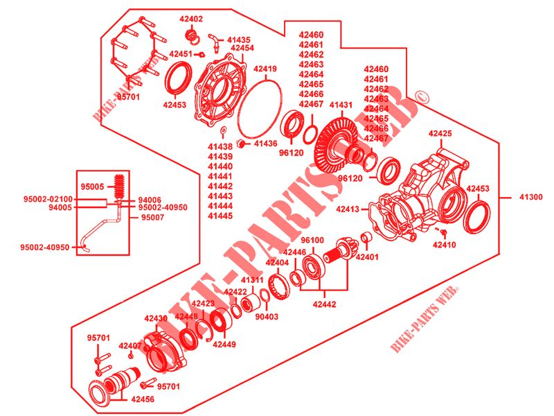 REAR DIFFERENTIAL for Kymco MAXXER 450 i IRS EURO II # KYMCO