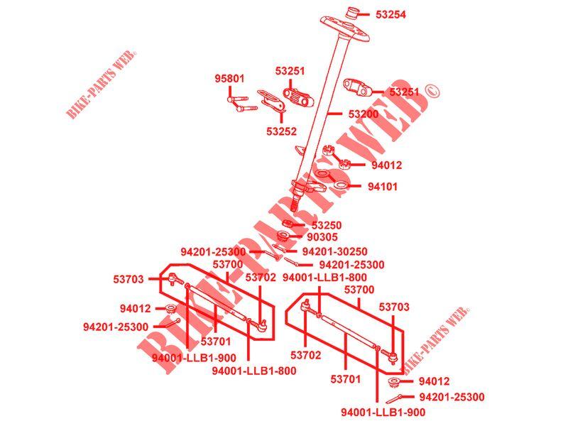 Parts Of A Column >> Steering Column For Kymco Mxu 300 R 4t Euro Ii Kymco