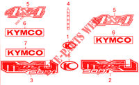 STICKERS for Kymco MXU 500 IRS 4X4 INJECTION 4T EURO II