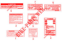 WARNING LABELS for Kymco MXU 500 IRS 4X4 INJECTION 4T EURO II