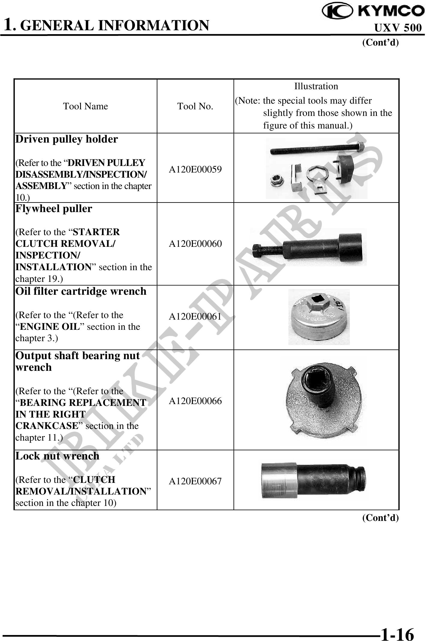 uxv 500 Workshop-manual : Page 38