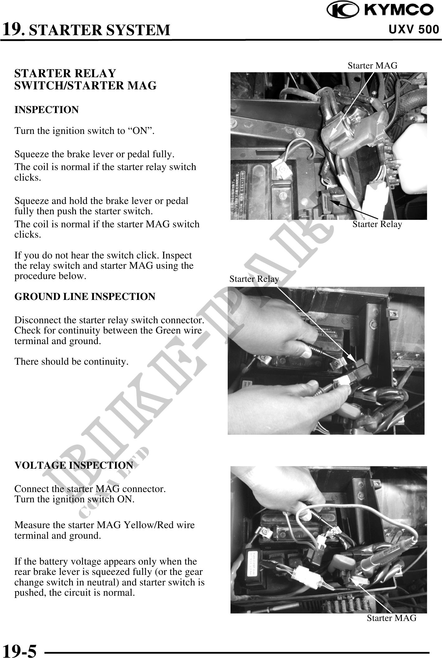 uxv 500 Workshop-manual : Page 445